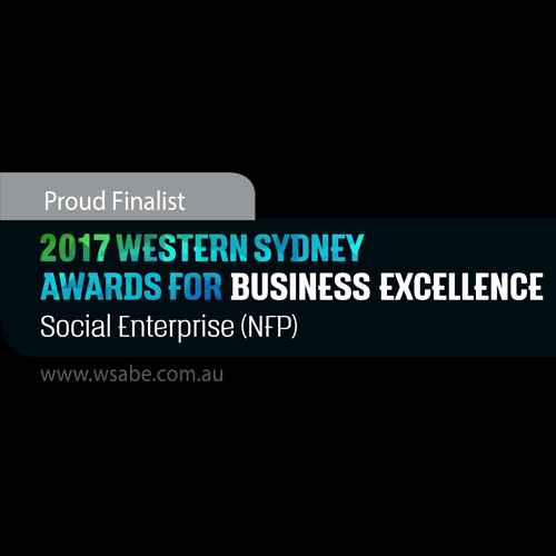 2017 WSABE Excellence in Social Enterprise logo with a black background