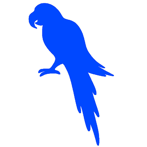 Blue parrot in picture, Blue