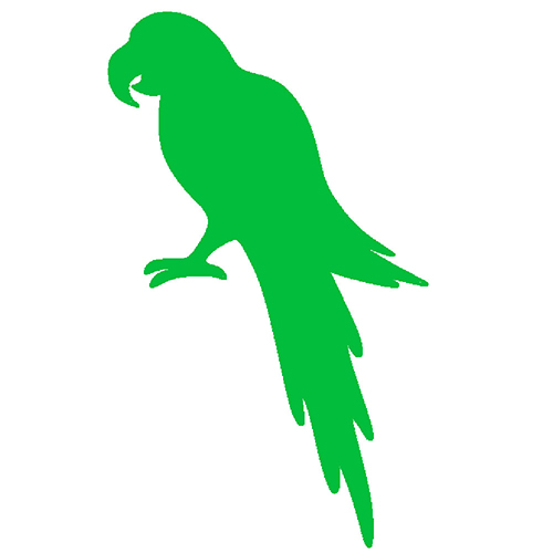 Green parrot in picture, Green