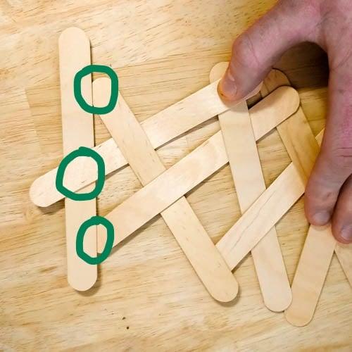 Ending or 'Locking off' Popsicle Stick cobra weave