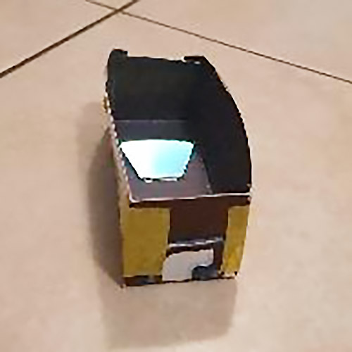 A spectrometer template folded into a box shape