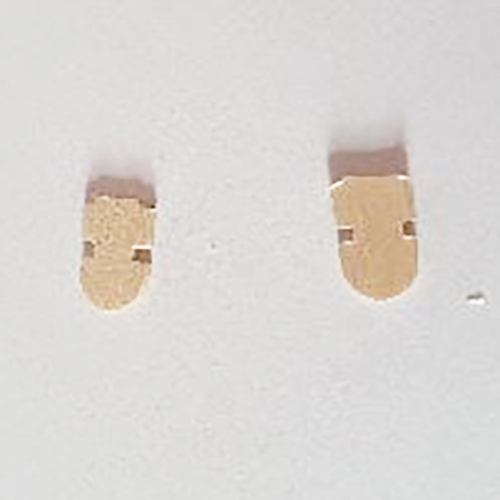 Two cut pieces of paddle pop stick