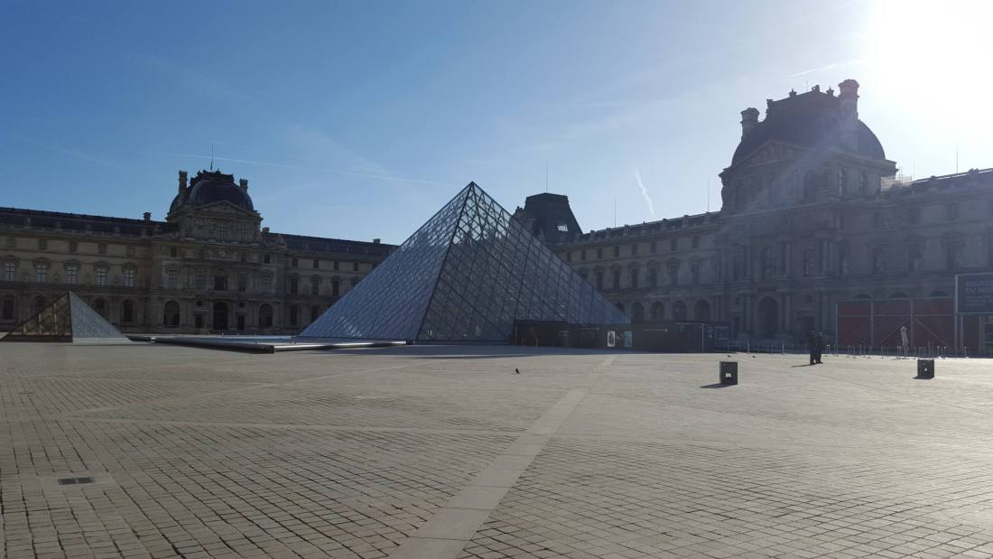 The Louvre - Empty after the terror attacks in Paris