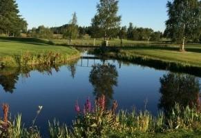 Utsikt över golfbanan