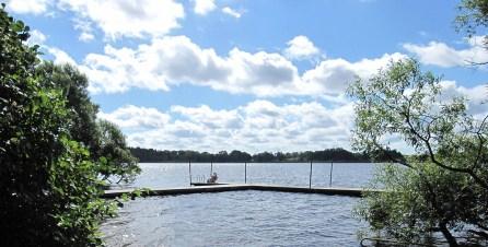 Take a dip in Lårstaviken.