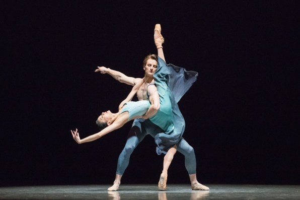 """Yuan Yuan Tan and Aaron Robison in Stanton Welch's """"La Cathedrale Engloutie."""" Photograph by Karolina Kuras"""