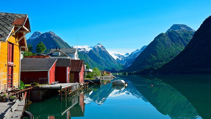 Fjærland in Sogn, Norway