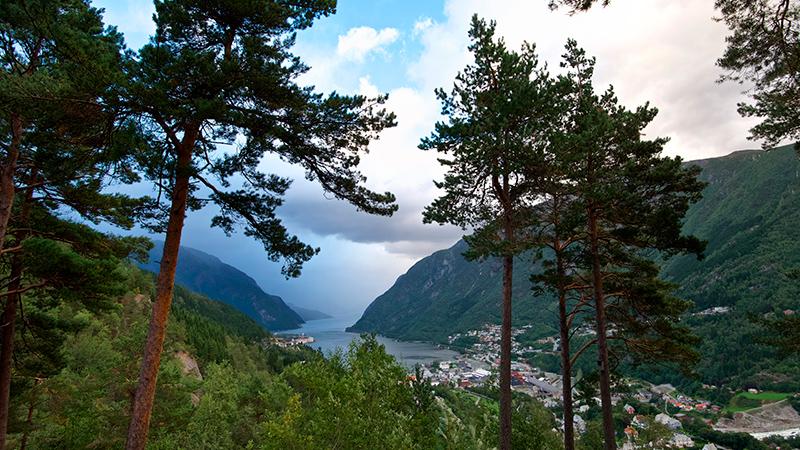 Odda in Hardanger, Norway