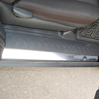 Polished Stainless Door Sill Trim fits: 2007-2013 Toyota FJ Cruiser - Ferreus Industries - OTH-102-08