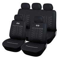 CL1002CB06 Carline Flags Black Fabric 9pcs Full Car Seat Covers Compatible to toyota 4 Runner Avalon Camry Corolla FJ Cruiser Land Cruiser Prius Prius V Yaris 2017-2007