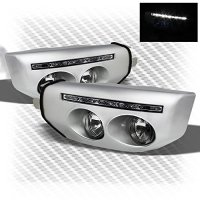 2007-2014 FJ Cruiser Bumper To Fog Lights Conversion Day Running Light Built-In 2008 2009 2010 2011 2012 2013 Pair L+R