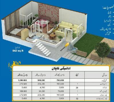 Drawing Map 5 Marlas Appartment Khayaban e Amin Housing Lahore