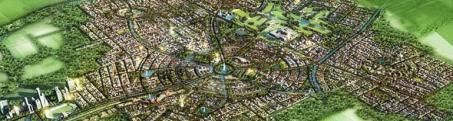 Lake City Lahore - Master plan - Satellite view