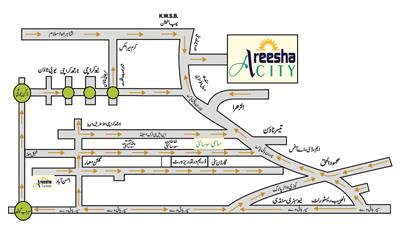 Areesha City Karachi - Location Map