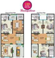 Rainbow Sweet Homes - 120 Sq Yards (One Unit) Bungalow internal Plan