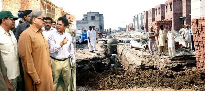 Shahbaz Sharif in Lahore Ashiana Housing Colony (19-6-2011)