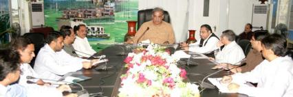 Shahbaz Sharif presiding a meeting on Ashiana City in Lahore on September 3, 2011