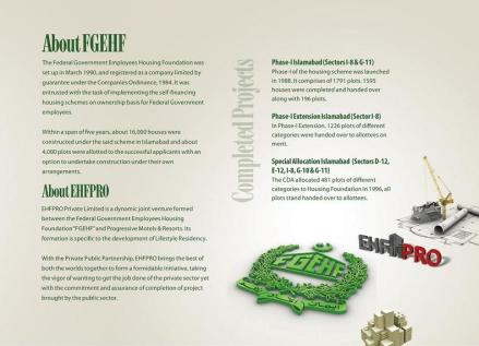 Lifestyle Residency Islamabad - About FGEHF