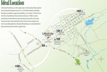 Lifestyle Residency Islamabad - Location Plan or Map