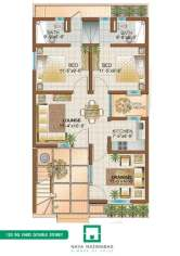 Bungalow 120 sq yards Double Story Ground Floor