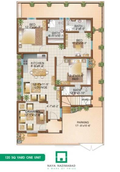 Naya Nazimabad Housing City Karachi – Bunglows Floor Plans/Layout