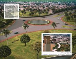 Naya Nazimabad Karachi - Master Plan Roads and Gardens Conceptual View