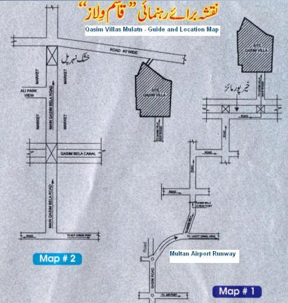 Qasim Villas Multan Location and Guide Map