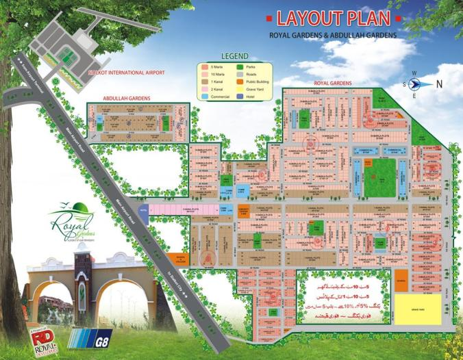 Royal Gardens Sialkot - Master or Layout Plan