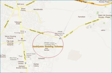 Ashiyana Housing Scheme Atari Saroba Lahore - Location Map
