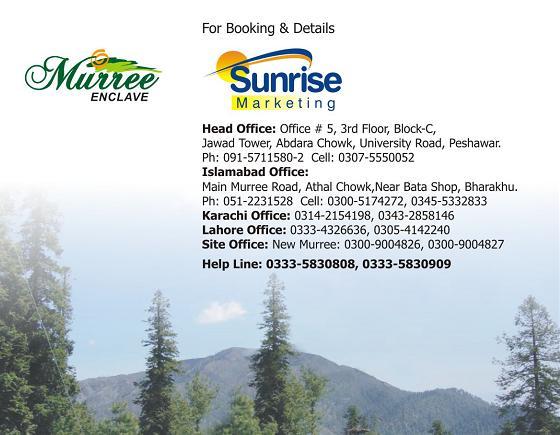 Murree Enclave Housing Scheme New Murree - Booking Details