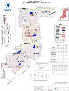 PGSHF Punjab Government Servants Housing Foundation Multan - Detail Layout / Master Plan