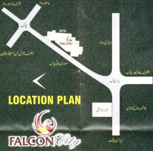 Falcon City Multan - Location Plan or Map