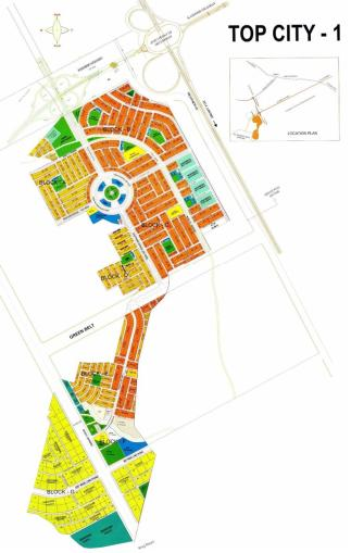Top City 1 Housing Scheme Islamabad - Master or Layout Plan