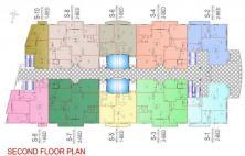 Balcony 99 Apartments DHA Lahore - Second Floor Plan