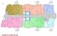 Balcony 99 Apartments DHA Lahore - Third Floor Plan