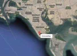 Crescent bay Karachi Location Plan Between Bundle Islanad, Clifton and DHA