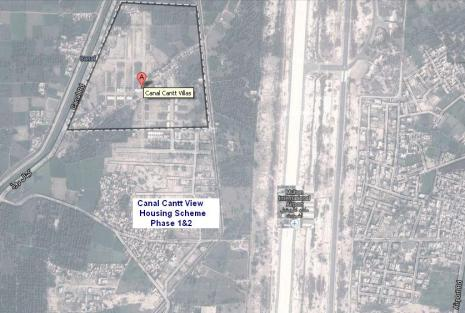 Multan Cantt Villas Satellite Map as on 19-1-2014