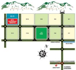 Khudadad Heights Apartments Islamabad - Location map