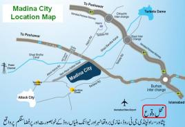 Location Map Madina City Kamra Attock