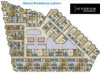 Hamza Residencia Lahore Apartments - First Floor Layout Plan