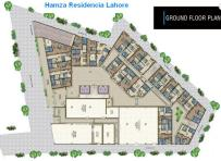 Hamza Residencia Lahore Apartments - Ground Floor Layout Plan