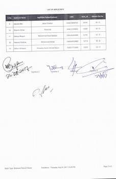 Sheikhupura Housing Colony Balloting Result 24-8-2017 (Shaheed Police Quota Category 5 Marla Plots Balloting Results) b