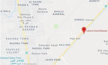 Lahore Grand Bazar -Location Map