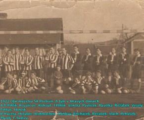 V roce 1922 měl klub SK Protivín dvě mužstva dospělých