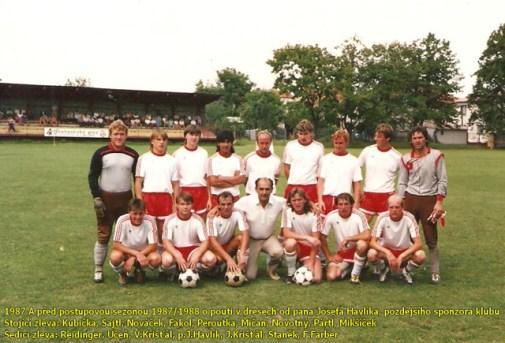Pouťový zápas před zahájením postupové sezóny 1987/88