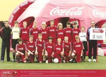 2006 - žáci FK Protivín, hájící barvy základní školy, ve finále Coca cola cupu v Praze