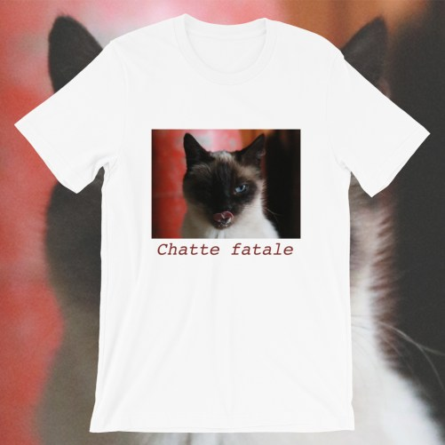t-shirt chatte fatale