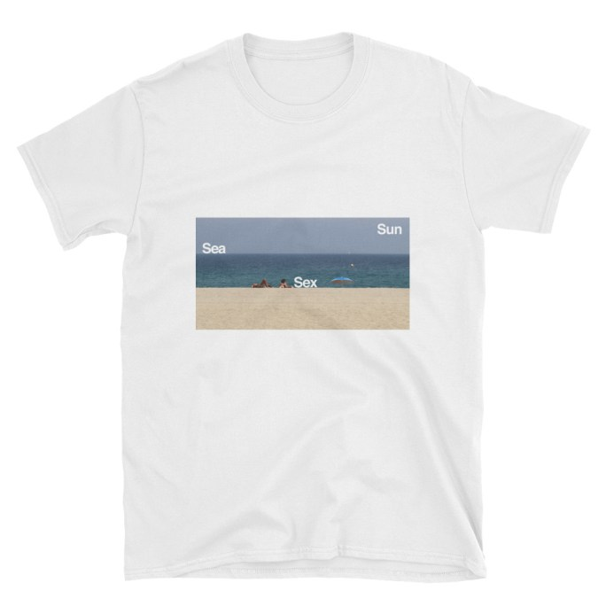 t-shirt sea sex and sun
