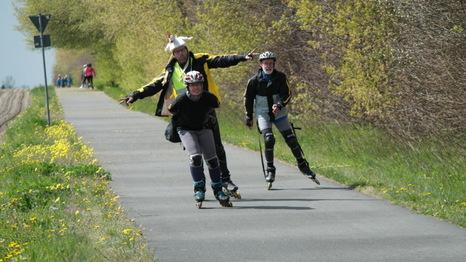 Skate auf der Flaeming-Skate während des Frühlings | Foto: Landkreis TF
