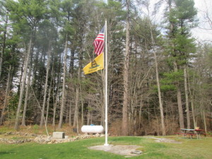 Flag Pole Installed Bow
